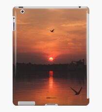 Playful Birds at Sunset iPad Case/Skin