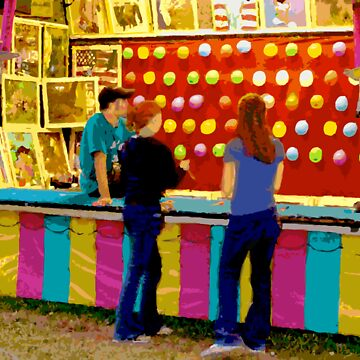 Twilight at a Carnival with Girls Playing by wwROBERTLFOXcom