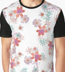 Bits of Flowers Pattern Graphic T-Shirt