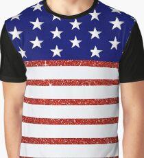 American Flag Stars & Stripes Pattern Graphic T-Shirt