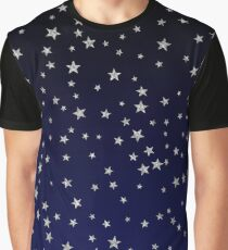 Silver Star Pattern Graphic T-Shirt