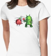 Apple vs Android Women's Fitted T-Shirt
