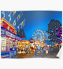 Carnival Midway at Twilight Poster