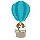 Beagle dog portrait hot air balloon gifts for dog lover dog breeds by PetFriendly  by PetFriendly