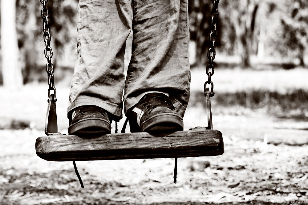 on the swing by Victor Bezrukov
