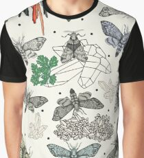 Moths and rocks. Graphic T-Shirt