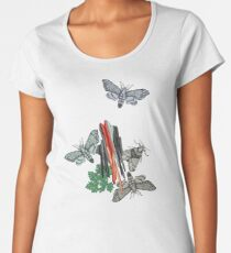 Moths and rocks. Women's Premium T-Shirt