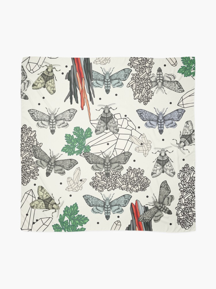 Alternate view of Moths and rocks. Scarf