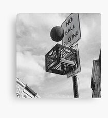 Basketball never stops Canvas Print