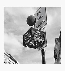 Basketball never stops Photographic Print
