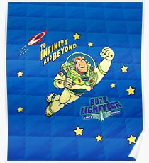 Toy Story Andy's Buzz Lightyear Bed Duvet Poster