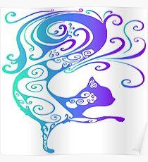 Magic fairy tale bright cat Poster
