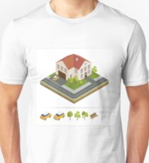 Modern House. Modern Home. Isometric Concept. Real Estate. Cottage. Isometric House. Computer Icon. Modern Scandinavian Style T-Shirt