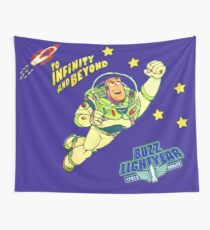 Andys 90'sToy Story Bed Replica Buzz Lightyear Wall Tapestry