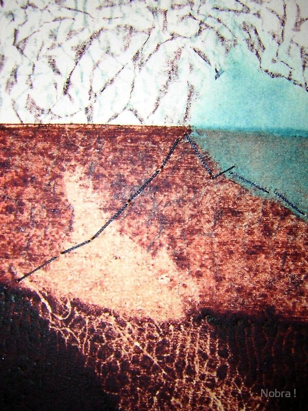 Sewn Scape I (detail) by Nobra !