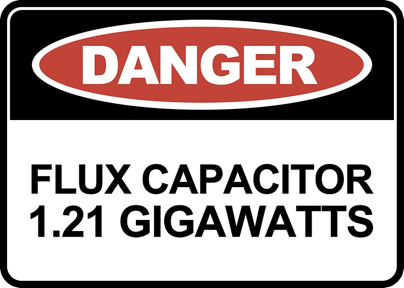 gigawatts stickers by jerry grey redbubble. Black Bedroom Furniture Sets. Home Design Ideas