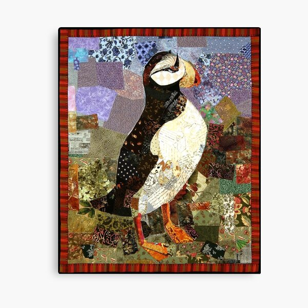 Quilted Puffin Canvas Print
