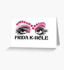 Frida K-Hole Eyes Greeting Card