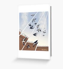 swallows in full company strength Greeting Card
