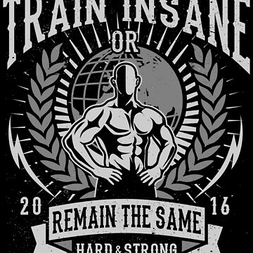Train Insane Or Remain The Same  by JakeRhodes