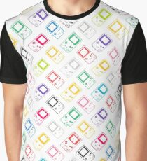 Outline Gameboys (white) Graphic T-Shirt