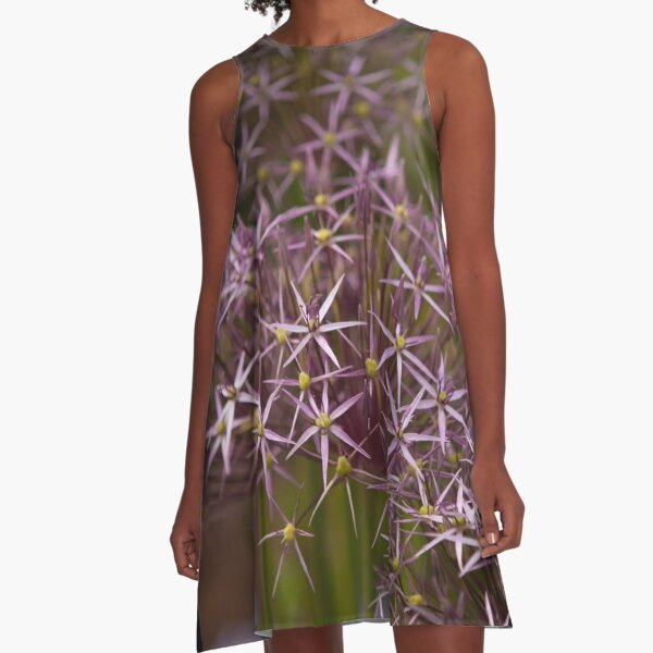 Allium Summer Flowers A-Line Dress
