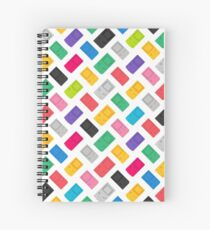 Colourful Gameboys (white) Spiral Notebook