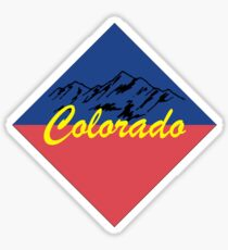 Colorado Badge With Mountains Sticker