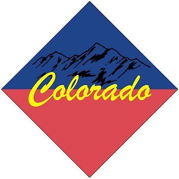 Insignia de Colorado con montañas de kackourey1