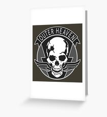 Metal Gear Solid - Outer Heaven Emblem  Greeting Card