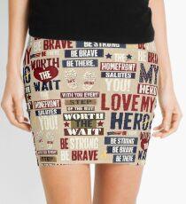 319RB, Patriotic, USA, Symbolic, Military Hero Mini Skirt