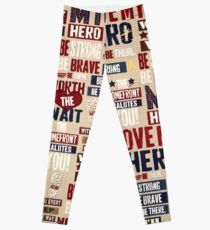 319RB, Patriotic, USA, Symbolic, Military Hero Leggings