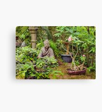 Japanese style Decoration at Guayaquil Botanical Garden Canvas Print