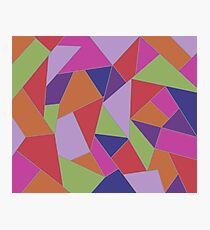 Geometric triangle abstract pattern Photographic Print