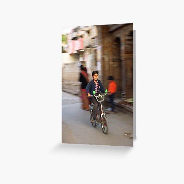 Bikeboy Greeting Card