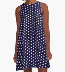 Small Star Pattern A-Line Dress