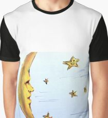 Moon and Stars  Graphic T-Shirt