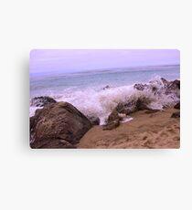 California Malibu Beach Sticker  Canvas Print