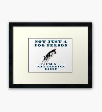 rat terrier dad Framed Print