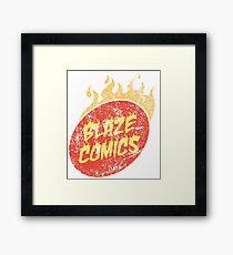 Blaze Comics Framed Print