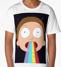 Trippy Hallucinogenic Rainbow Morty Design Long T-Shirt