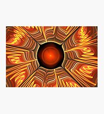 Red Orange Floral Photographic Print