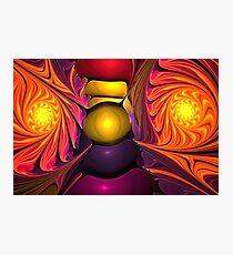 Violet Orange Spiral Photographic Print