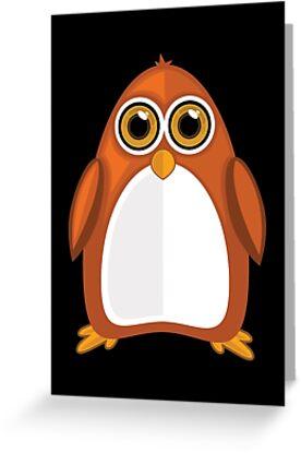 Brown Orange Penguin 2  by Adam Santana