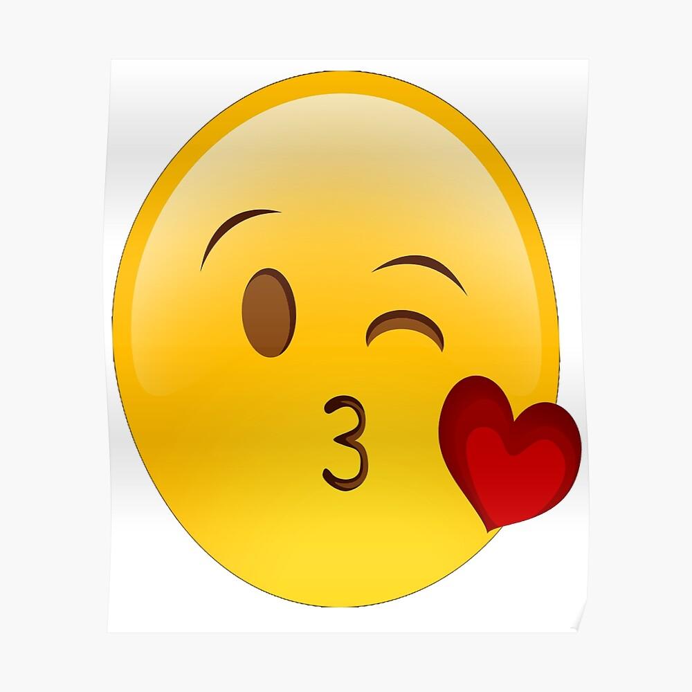 Lippenstift Emoji Kissy Gesicht Kuss Happy Smiley Herz