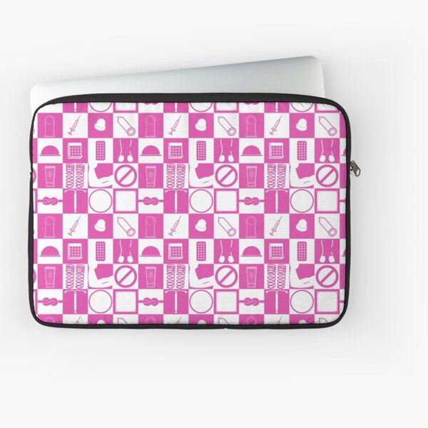 Contraception Checkboard- Pink Laptop Sleeve