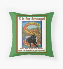 S is for Smeagol Throw Pillow