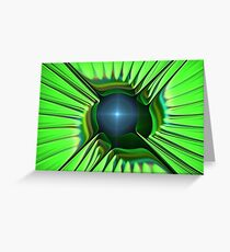 Green Blue Spikes Greeting Card