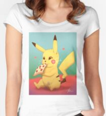 Pizzachu Women's Fitted Scoop T-Shirt