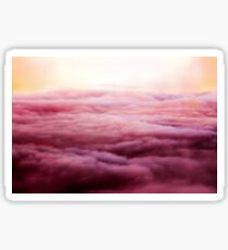 Pink sunset over the clouds  Sticker